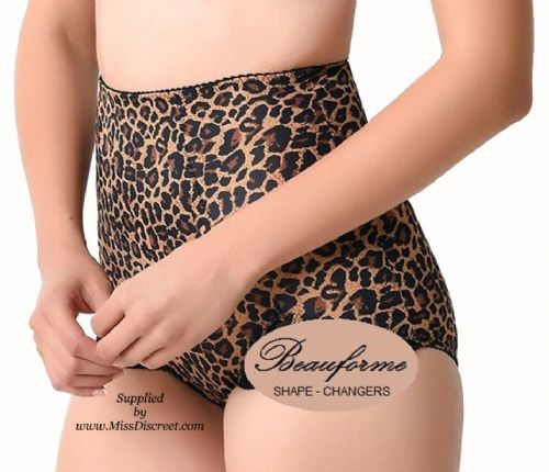 Ladies Leopard Print Control Knickers Panty Girdle Size Small Only